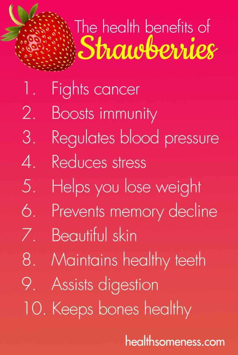 Health Benefits Of Strawberries Healthsomeness
