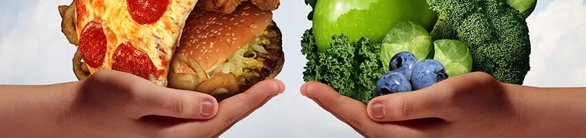 swap unhealthy food for healthy