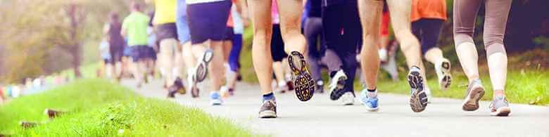 walking or jogging